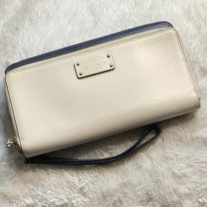 ♠️Kate Spade Colorblock leather wristlet wallet ♠️